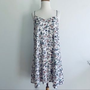 Lush floral spaghetti strap lined Dress Largely